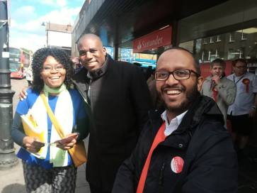 Election campaign with David Lammy